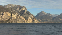 Italy cliffs along the Lago di Garda   Stock Footage