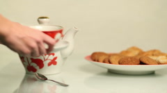 Brewing a cup of tea. HD - stock footage