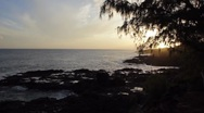 Stock Video Footage of Sunset on Kaui