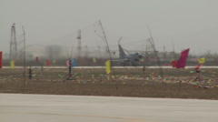 J-10 Chinese Fighter aircraft : Takeoff Stock Footage