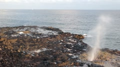 Spouting Horn on Kauai Stock Footage