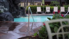 Exotic Swimming Pool Stock Footage
