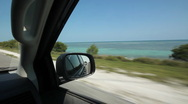 Driving in Florida Keys. Ocean view. Stock Footage