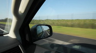Stock Video Footage of Driving in Florida. Fence and mangroves.