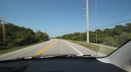 Stock Video Footage of Driving in Florida. Highway corner.