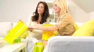 Girls Retail Shopping Fun Stock Footage