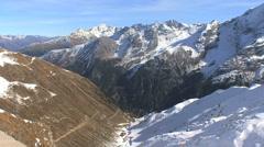Italy road to Stelvio Pass 9,068 feet Stock Footage