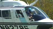 CHP Helocopter Take Off -Sizes Stock Footage