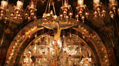 Church of the holy sepulchre P18 Stock Footage