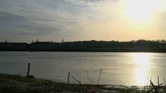 Facades des quais sunset 1 - stock footage
