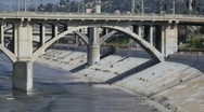 Stock Video Footage of Los Angeles River 01 HD