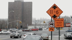 Harlem River Drive in NYC Stock Footage