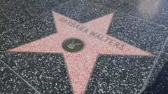 Star Barbara Walters HD Stock Footage