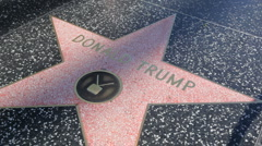 Star Donald Trump HD - stock footage