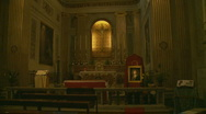 Stock Video Footage of Inside a Rome church - Glidecam one
