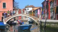 Burano Island, Venice, Italy Stock Footage