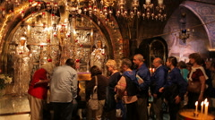 Church of the holy sepulchre P16 Stock Footage