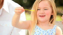 Childhood Fun With Play Bubbles - stock footage