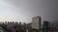 Stock Video Footage of Xining, China, city, urban landscape, clouds, rain, weather, skyline, time lapse