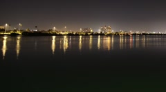 Stock Video Footage of Clearwater harbor at night 2