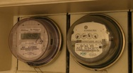 Stock Video Footage of Old Analog and New Digital House Electric Power Consumption Meter