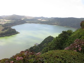 Stock Video Footage of Furnas crater lake