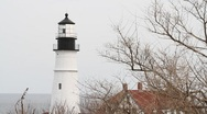 Stock Video Footage of Portland Headlight