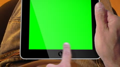 3D Ipad 2 Presentation Tablet computer Touch screen Green Screen - stock footage