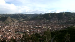 Cuzco From Above Stock Footage