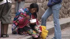 Eating Woman, Peru Stock Footage