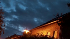 House With Clouds (Timelapse) Stock Footage