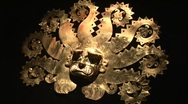 Stock Video Footage of Octopus Mask - Gold Of The Incas, Peru