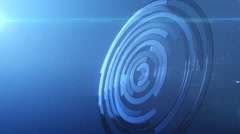 Shiny glass metal circles background Stock Footage