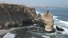 Cliffs - Cathedral Of Paracas (Peru) Stock Footage