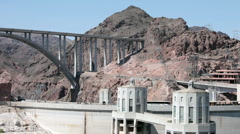 Hoover Dam and Bridge P HD 9320 Stock Footage