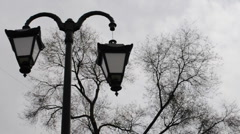 broken horror lamppost - stock footage
