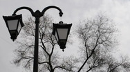 Broken horror lamppost Stock Footage
