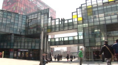 the village in sanlitun, beijing - stock footage