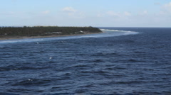 Rangiroa atoll with bird - stock footage