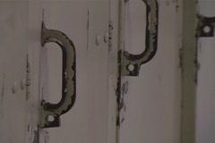 Hallway Lockers - stock footage