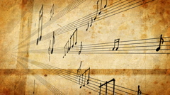 Musical Notes - stock footage