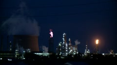 Industry (Night) Stock Footage