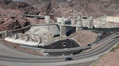 Hoover Dam road lookout HD 9335 Stock Footage