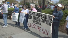 School of Americas protest Stock Footage