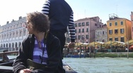 Stock Video Footage of Crossing Canal Grande, Venice, Italy