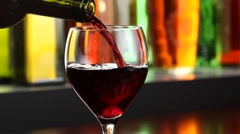 Pouring red wine  - stock footage