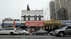 Harlem Store Fronts in New York City Stock Footage