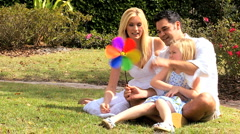 Multi-Ethnic Family Fun in the Park Stock Footage
