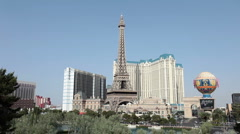 Las Vegas casino resorts Eiffel Tower Timelapse HD 9405 Stock Footage