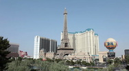 Las Vegas casino resorts Eiffel Tower Timelapse HD 9405 Stock Footage